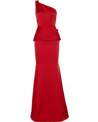Hogarth one shoulder hammered satin gown medium 1038100