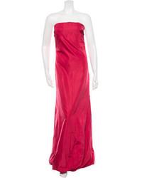 Prada Satin Strapless Dress
