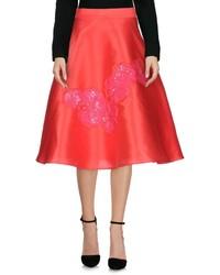Red Satin Full Skirt