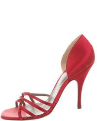 Dolce & Gabbana Dg Satin Multistrap Sandals
