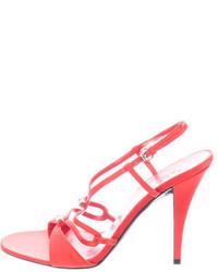 Gucci Embellished Satin Sandals