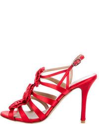Valentino Satin Bow Embellished Sandals