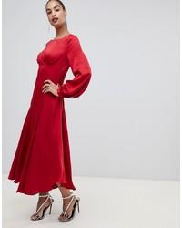 cc16dbb55662 Red Satin Maxi Dresses for Women   Women's Fashion   Lookastic.com