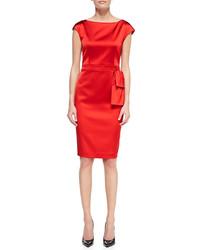 Collection bateau neck dress venetian red medium 108602
