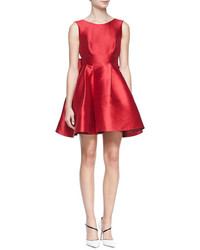 New york sleeveless mini cocktail dress with large back bow medium 108601