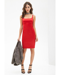 Forever 21 Sateen Cami Bodycon Dress