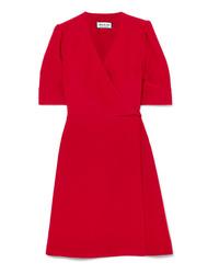 Paul & Joe Patricia Washed Satin Wrap Mini Dress