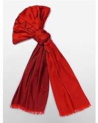 Calvin Klein Center Logo Fringed Scarf Deep Red