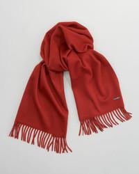 Loro Piana Piccola Solid Cashmere Scarf Red