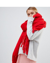 My Accessories Red Super Soft Extra Long Scarf