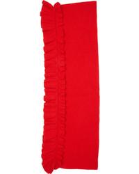 Stella McCartney Red Wool Rufflescarf