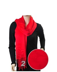 Selini Solid Red 100% Viscose Thedappertie Scarf Lps1000