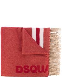 DSQUARED2 Tassel Trimmed Logo Scarf