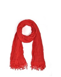 TheDapperTie Red 100% Viscose Scarf Ls4320