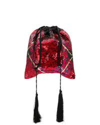 ATTICO Sequined Tartan Pouch Bag
