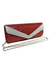 TheDapperTie Red Shiny Evening Clutch Bag 355