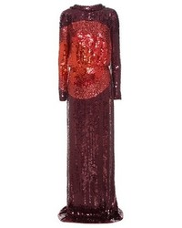 Tom Ford Sequin Embellished Silk Gown