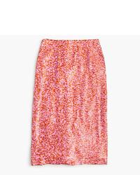 J.Crew Collection Sequin Skirt In Azalea Rust