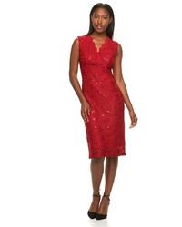 Red Sequin Sheath Dress