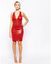 2a05ff91 City Goddess Sequin Stripe Mini Dress With Cross Back Straps, $34 ...