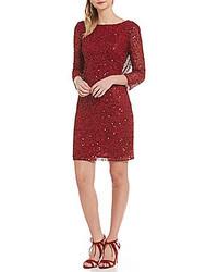 Pisarro Nights Petite 34 Sleeve Sequin Sheath Dress