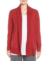 Eileen Fisher Shawl Collar Tencel Blend Cardigan