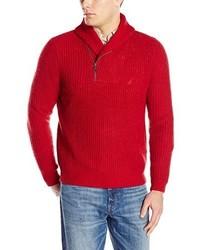 Nautica Zip Up Shawl Sweater