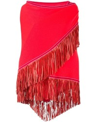Antonia Zander Fringe Trim Knitted Shawl