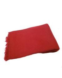 KPA Cashmere Red Twill Weave Shawl