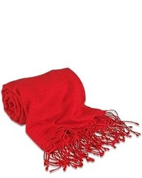Forzieri Red Pashmina Silk Shawl