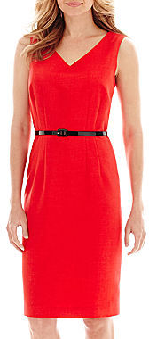 bcb776fdd0d ... Evan Picone Black Label By Evan Picone Black Label By Evan Picone  Sleeveless Belted Sheath Dress ...
