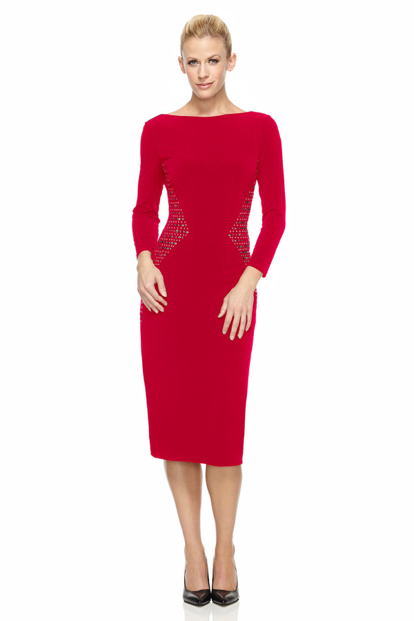 London Times Bold Red Sheath Dress | Where to buy & how to wear