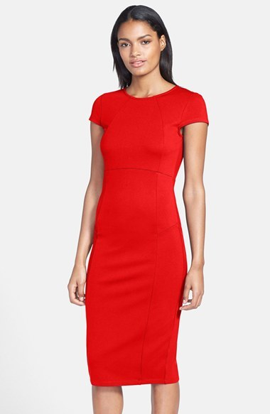 9e0ac7021a Red Sheath Dresses Nordstrom Felicity Coco Seamed Pencil Dress