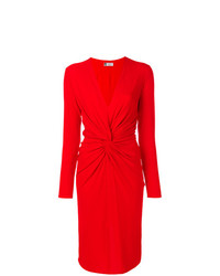 Lanvin Plunge Neck Draped Front Dress