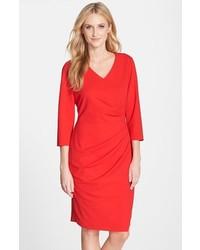 NYDJ Rosella Stretch Crepe Sheath Dress