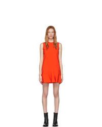 Victoria Victoria Beckham Red Flounce Hem Shift Dress