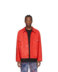 Off-White Red Denim Arrows Jacket