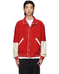 We11done Red Varsity Jacket