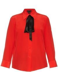 Marc Jacobs Tie Neck Crepe De Chine Shirt