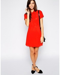 red shirt dress - Dress Yp