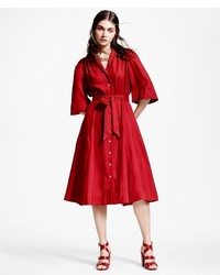 Brooks Brothers Silk Shirt Dress