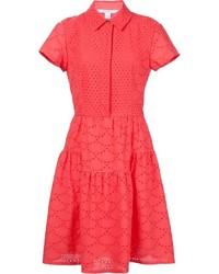 Diane von Furstenberg Broderie Anglaise Shirt Dress