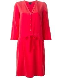 DKNY Drawstring Waist Shirt Dress