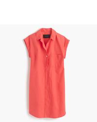 J.Crew Petite Short Sleeve Cotton Shirtdress