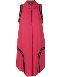 Versus Striped Detail Shirt Dress
