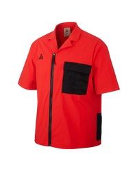 Nike Acg Short Sleeve Zip Up Stretch Nylon Shirt