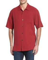 Tommy Bahama Big Tall Catalina Twill Short Sleeve Silk Camp Shirt