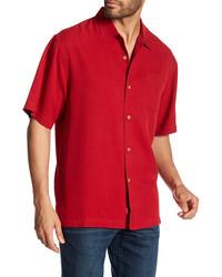 Tommy Bahama Catalina Original Fit Short Sleeve Silk Shirt