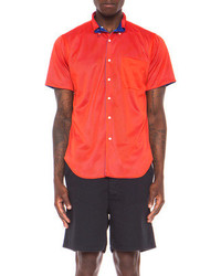Mark McNairy New Amsterdam Reversible Mesh Button Down