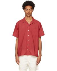 Polo Ralph Lauren Red Classic Fit Camp Short Sleeve Shirt